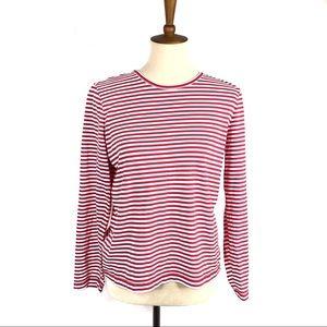 Orvis Striped Long Sleeve Cotton Tee Shirt